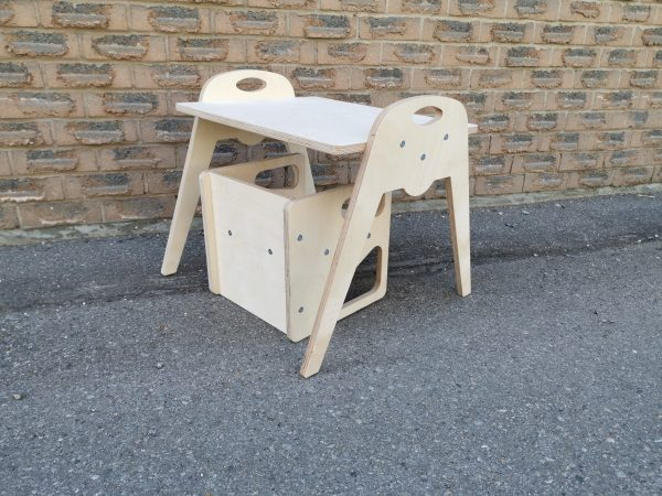 Cube Chair with Large Table